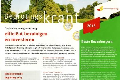 Begrotingskrant (deelgemeente Rozenburg)